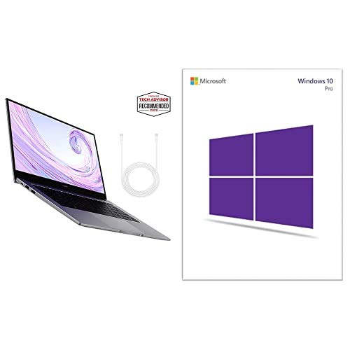 HUAWEI MateBook D 14 2020 - 14 Inch Laptop with FullView 1080P FHD Ultrabook PC (AMD Ryzen 5 3500U, 8 GB RAM, 512 GB SSD Windows 10 Home et Windows 10 Professional 32 bit/64 bit English International