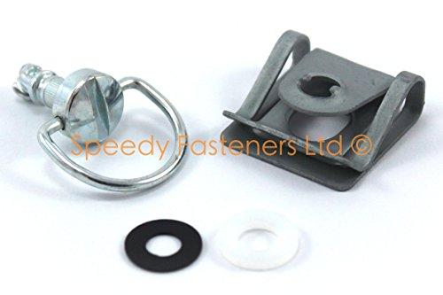 Un juegue de cierre con llave de rápida apertura Dzus, las arandelas y el clip se usan en el carenado de motocicleta–Seleccione la longitud Dzus necesaria