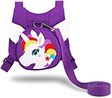 Accmor Toddler Harness Leash, Purple Butterfly Anti-Lost Child Harness Safety Leashes, Cute Kids Walking Assistant Strap Belt for 1-5 Years Girls to Outdoor