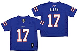 OuterStuff Youth NFL Mid-Tier Player Jersey, Buffalo Bills Josh Allen Medium (5/6)