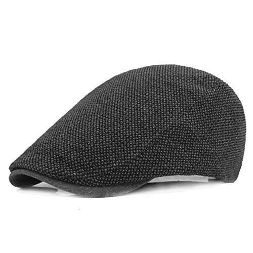 UMIPUBO Sombrero de Boina Vaquera Gorra de Béisbol con Visera Casquillo Vintage Sencilla Ocio al Aire Libre Sombrero del Sol Protector Cap (gris)