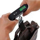 Báscula de equipaje portátil con pesaje de mano Smart Express Báscula duradera Evita el sobrepeso Autoblocante - Negro 13x3x6.5Cm