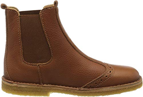 Bisgaard Unisex-Kinder Nori Chelsea Boots, Braun (Cognac 500), 33 EU