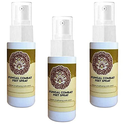 FungalCombat Feet Spray Natural herbal athlete's foot spray- quickly relieve itchy feet, blisters, foot odor, relieve pain, natural immune support, 100% natural formula, for external treatment (3PCS)