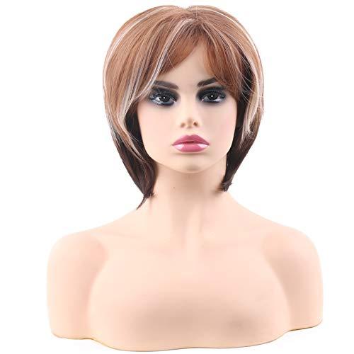 Hairpiece Mme micro-cheveux courts bouclés paragraphe européen et du fil à haute température de la mode américaine
