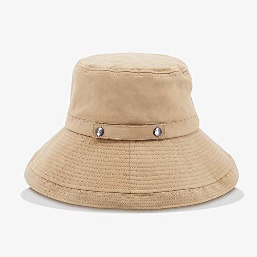 Grote dakrand platte hoed schaduw zonnebrandcrème wastafel hoed knop verstelbare wastafel hoed effen kleur wilde zonnehoed