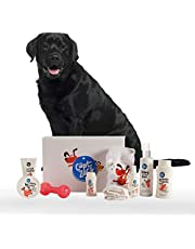 Captain Zack - The Labrador Groom Box – Ultimate 8-in-1, Head-to-Paw Groom-Kit for Your Dog - (Shampoo +Conditioner +Dry Shampoo +Paw Butter +Toy +Towel) - pH Neutral and Paraben Free