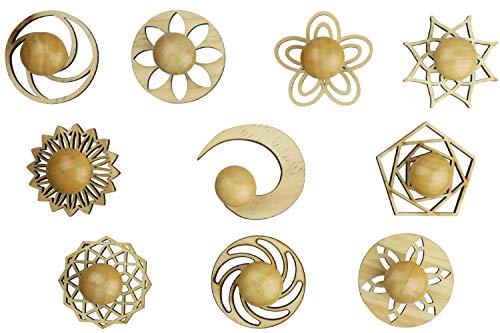 SIMPLE CRATIVITY Mini Zen Garden Sand Stamps, 10 Pieces Set - Sandplay...
