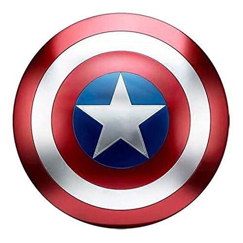 Bouclier Captain America Métal Adulte Accessoires de Cosplay réplique 1: 1 de Marvel Prop America Costume Bouclier décoration Murale de Bar créative B,47cm