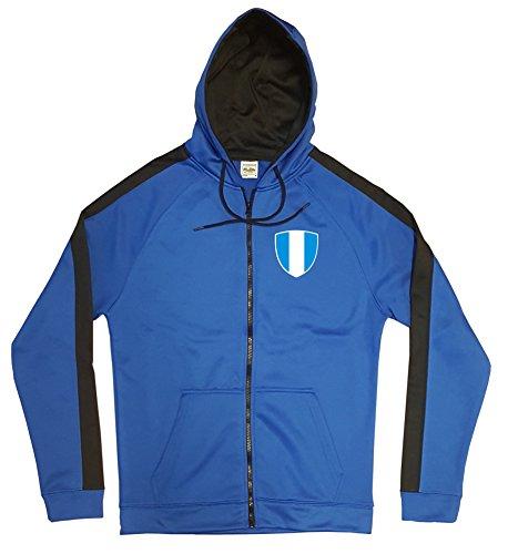 EL Salvador Jacke Sweater Royal GO EL Salvador Trikot Look Zip Nation Fussball Sport (L)