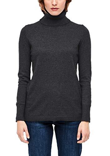 s.Oliver Damen 14.910.61.6233 Pullover, Schwarz (Black Melange 9898), (Herstellergröße: 40)