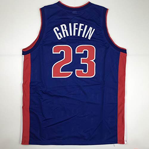 Unsigned Blake Griffin Detroit Blue Custom Stitched Basketball Jersey Size Men's XL New No Brands/Logos