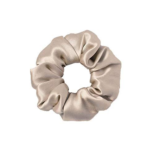 LilySilk Seide Haargummi Haare Ringe Damen Pferdeschwanz Halter Hairband Haarband aus Seide Taupe Verpackung MEHRWEG