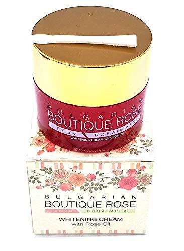 Crème de blanchiment pour le visage à l'huile de rose naturelle de Boutique Rose, Sans Conservateurs, Sans Parabens