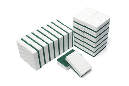 LTWHOME Heavy Duty Gommage éponge Tampon à Récurer Utilisation sans éraflure Haute Densité pour Cuisine, Salle de Bain et Plus 110 x 70 x 30mm (Lot de 30)