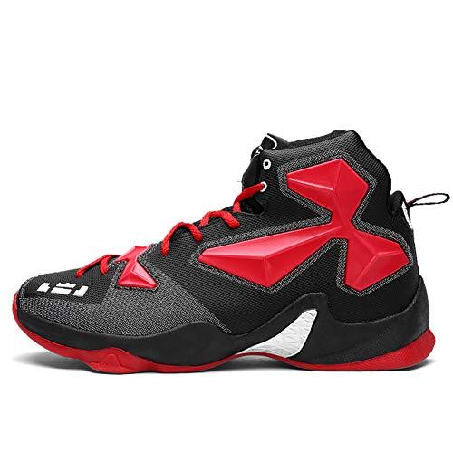 Zapatillas de Baloncesto para Hombre Zapatillas de Deporte Altas y de Moda Casual Zapatillas de Deporte Resistentes al Desgaste Antideslizantes Oudoor