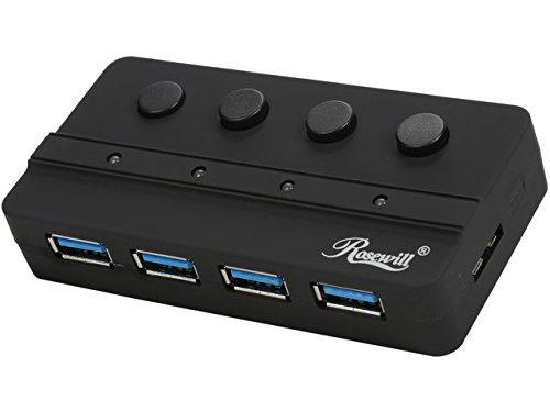 Rosewill RHB-343 USB 3.0 4-Port Hub with Individual Power Control