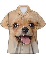 Agroupdream Camisas hawaianas de manga corta con botones para niñas de 5 a 16 años
