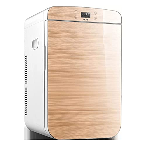 Mini Fridge 25 Liters Compact Portable And Quiet Car Single Door Small Low Noise Refrigerator Fridge Freezer Coolbox, for Home Bedroom Car Dorm Travel Office Camping, Gold