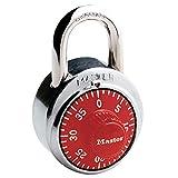 Master Lock (マスターロック) ダイヤル式南京錠 1504JAD レッド 本体幅48mm シャックル径高さ19mm