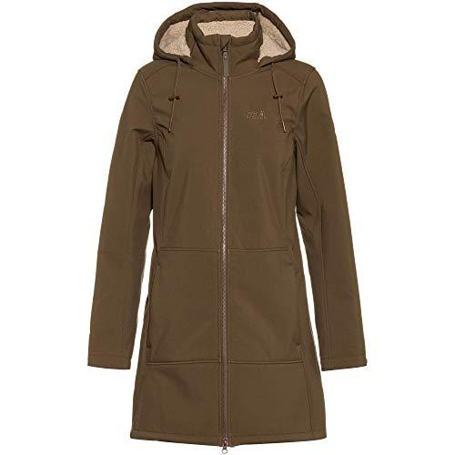 Jack Wolfskin Damen Windy Valley Coat W Softshellmantel, Granite, XXL