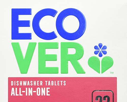 Ecover Tabletas de lavavajillas todo en uno, 22 s
