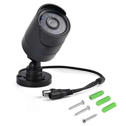 PUSOKEI Cámara de Seguridad para Exteriores, cámara AHD 720P Cámaras de vigilancia con Sensor CMOS de 1/4 '' / Conmutación automática IR-Cut / IP66 a Prueba de Agua/Soporte Ajustable a 180 °
