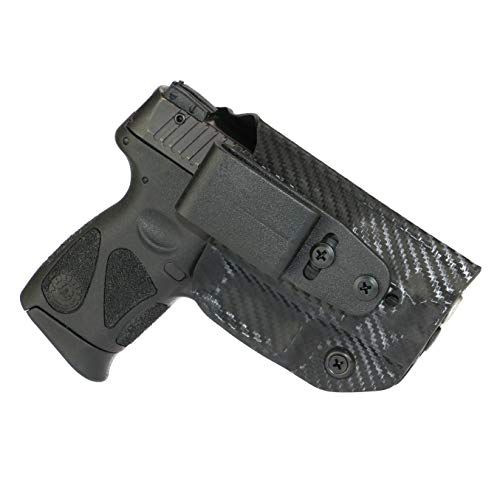 FoxX Holsters Deluxe Trapp Kydex IWB Holster - Taurus Millenium G2 PT111, PT140 Our Smallest Inside Waistband Holster Adjustable Cant & Retention, Conceal Carry (Carbon Fiber Black)