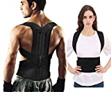 Posture Corrector for Women and Men Back Support Shoulder Posture Correction Target Spine, Reduce Lower and Upper Back Pains (Large)