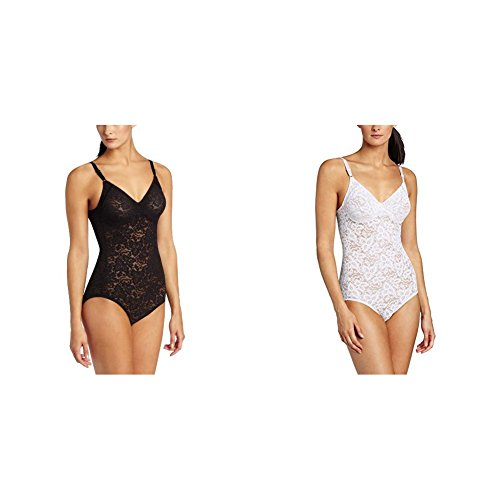 Bali Women's Shapewear Lace 'N Smooth Body Briefer - 38D - Black/White