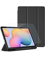 EasyAcc Funda Compatible con Samsung Galaxy Tab S6 Lite 10.4 + Protector de Pantalla, Ultradelgada Carcasa Compatible con Galaxy Tab S6 Lite 10.4 Pulgadas 2020 Tableta, Negro