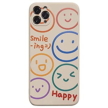 YLFC Cute Cartoon Smiley Letter Korean Phone Case for iPhone 12 11 Pro Max Xr X Xs Max 7 8 Puls SE 2020 Cases Soft Silicone Cover  Color   A Size   for iPhone 8