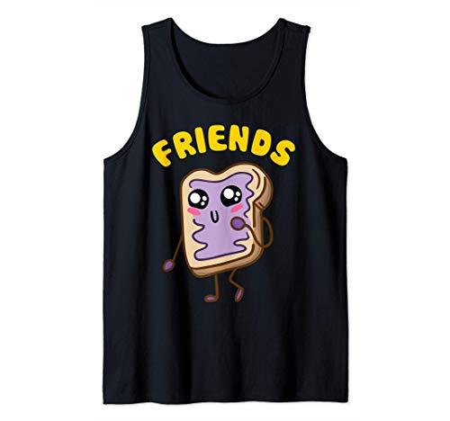 Kawaii Peanut Butter - Jelly - 2 2 BFF Best Friends Matching Tank Top