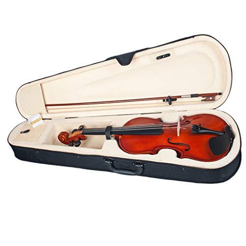 perfk Akustische Violine Set 1/8 Geige mit Hard Case, Bogen, Kolophonium für Anfänger, Studenten, 4-5 jährige Kinder
