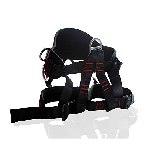IGOSAIT Stark 2500KG Outdoor-Klettern Sicherheitsgurt Rock Climbing Harness Half Body Harness Schutzbedarf Überlebensausrüstung Dauerhaft (Color : Black)