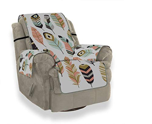 JOCHUAN Beautiful Feathers, Chicken Feathers, Parrot Feathers Slipcover for Chair Fitted Sofa Cover Cushions for Sofa Furniture Protector for Pets, Kids, Cats, Sofa