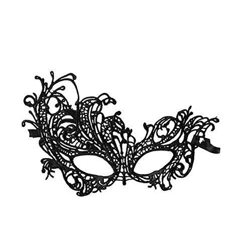 Watopi Sexy Kant Masker Klassiek Uitgesneden Venetiaanse Masker Oogmasker Kant Halloween Masquerade Masker voor Vrouwen Mysterieuze Masker voor Halloween Carnaval Party Kostuum Ball Fancy Dress
