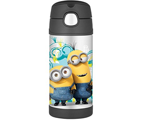 Thermos Funtainer 12 Ounce Bottle, Minions (Black)