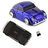 Ratón óptico inalámbrico ergonómico 3D con nano receptor USB, 10 m, 1600 DPI, apto para ordenador portátil y PC