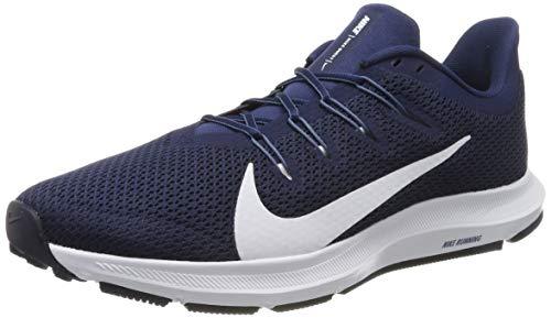Nike Quest 2, Chaussures de Running Homme, Bleu (Midnight Navy/White/Ocean Fog 400), 45 EU