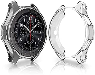 Case for Samsung Galaxy Watch 46mm Gear S3 Screen Protector,Shatter-Resistant Protective Shell TPU Cover Case for Samsung ...