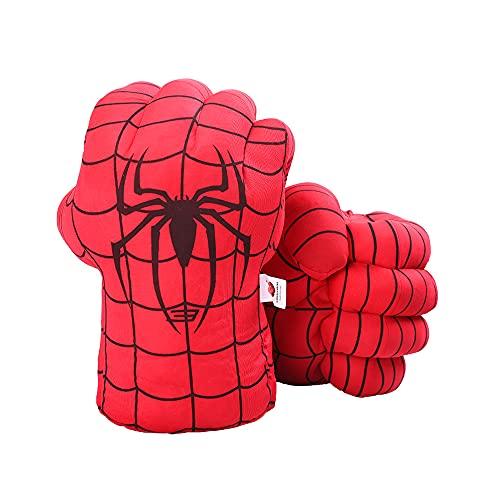 DDGOJUME Big Spiderman Hands, 1 Paar weiche Spiderman Boxhandschuhe Faust Hand Plüsch Unglaubliche Kostspielige Geschenke (Rot)