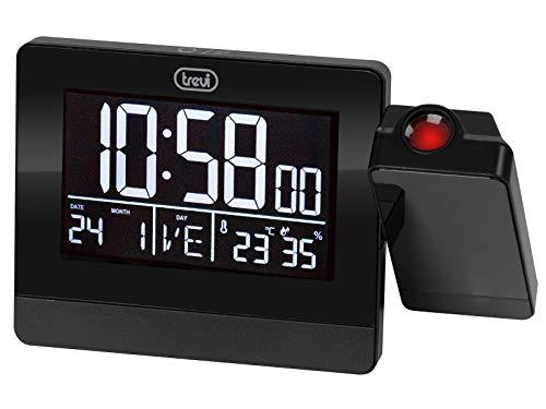 Trevi EC 884 PJ Reloj Digital con Alarma y Proyeccion, Negro