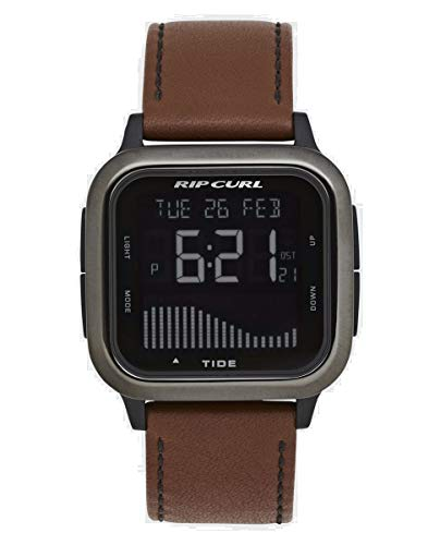 Rip Curl Next Tide Gunmetal Leather Men's Watch A1145-GUN
