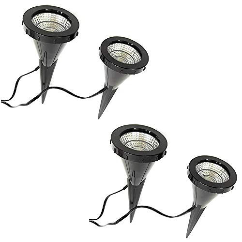 "Dapo® 2x 2 LED-Pflanzen-Strahler\""Jasmin\"" Handschalter LED-Pflanzen-Blumen-Zimmerpflanzen-Blumenkübel-Blumentopf-Spotlight Dekorations-Stimmungs-indirekter-Spot"