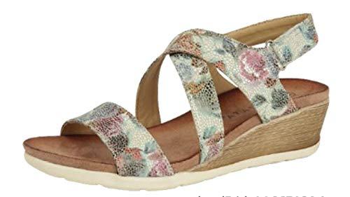Cipriata - Sandalias de cuña con Tiras Cruzadas para Mujer señora