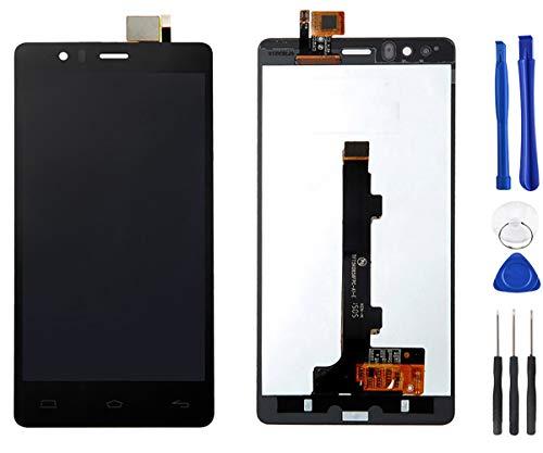 Stejnhge Pantalla LCD para BQ Aquaris E5 0858 TFT5K0858FPC-A1-E Reemplazo del Conjunto del Digitalizador de Pantalla Táctil Replacement Negro