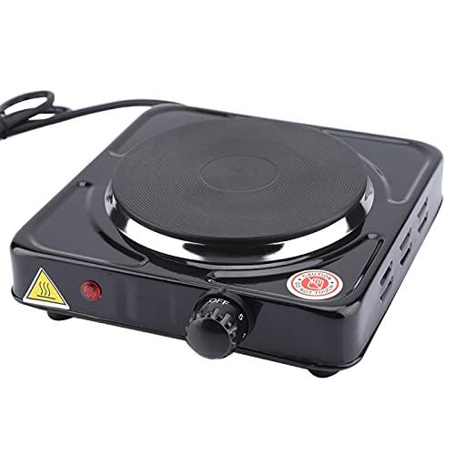 Estufa eléctrica para el hogar, estufa eléctrica segura de 1000 W de calor rápido con 1 estufa eléctrica para calentar alimentos para el hogar para hervir té(negro, Estándar europeo 220V, rosado)