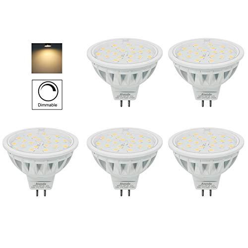 Aiwode 5er Pack Dimmbar DC12V MR16 LED Lampe Gu5.3 Scheinwerfer,Ersetzt 50W Warmweiß 2700K 600LM RA85 120°Abstrahlwinkel,kompatibel mit DC12V LED Treiber und 12V LED Dimmer.