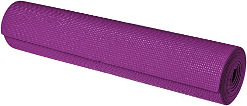 AmazonBasics Tapis de yoga et d'exercice avec sangle de transport, 0,63 cm, Violet
